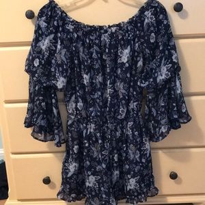navy blue american eagle romper